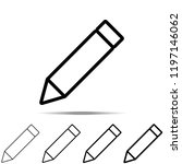 pencilicon in different shapes  ...