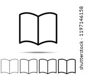 reading  book icon in different ...