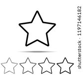 star icon in different shapes ...