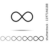 infinity sign icon in different ...