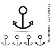 line anchor icon in different...