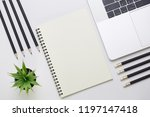 top view of business office on... | Shutterstock . vector #1197147418