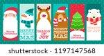 set of vertical christmas... | Shutterstock .eps vector #1197147568