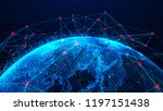 global network concept. world...   Shutterstock . vector #1197151438