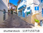 narrow street in the old... | Shutterstock . vector #1197153718