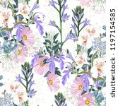 beautiful seamless spring... | Shutterstock .eps vector #1197154585