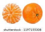fresh peeled mandarin orange... | Shutterstock . vector #1197155308