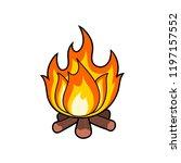 fire flame. fire vector... | Shutterstock .eps vector #1197157552