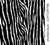 tiger or zebra seamless pattern.... | Shutterstock .eps vector #1197159748