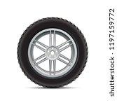 black auto tire on white... | Shutterstock .eps vector #1197159772