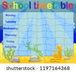 school timetable with marine... | Shutterstock .eps vector #1197164368