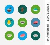 nutrition icons set. saba...