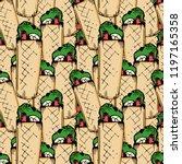 pop art seamless pattern of... | Shutterstock .eps vector #1197165358