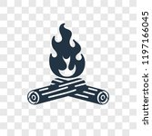 bonfire vector icon isolated on ... | Shutterstock .eps vector #1197166045