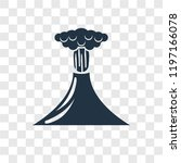 volcano vector icon isolated on ... | Shutterstock .eps vector #1197166078