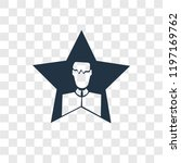 celebrity vector icon isolated... | Shutterstock .eps vector #1197169762