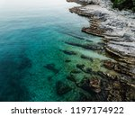 rocky coastline of adriatic sea ... | Shutterstock . vector #1197174922