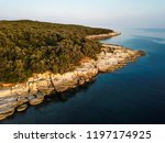 rocky coastline of adriatic sea ... | Shutterstock . vector #1197174925