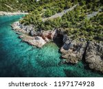 rocky coastline of adriatic sea ... | Shutterstock . vector #1197174928