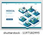 website template landing page... | Shutterstock .eps vector #1197182995