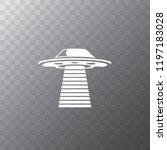 ufo flying saucer vector icon...   Shutterstock .eps vector #1197183028