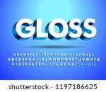 3d glossy   shine text effect... | Shutterstock .eps vector #1197186625