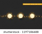 christmas lights  isolated... | Shutterstock .eps vector #1197186688