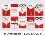 vector merry christmas and... | Shutterstock .eps vector #1197187285