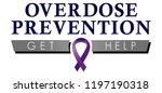 overdose prevention logo for... | Shutterstock .eps vector #1197190318