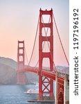 golden gate bridge view from...   Shutterstock . vector #1197196192