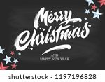 merry christmas and happy new... | Shutterstock .eps vector #1197196828
