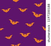 silhouettes of flying bats ... | Shutterstock .eps vector #1197200188