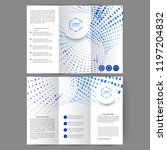 color tri fold business... | Shutterstock .eps vector #1197204832