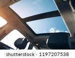 panoramic sun roof in the car   Shutterstock . vector #1197207538