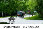 amish horse and buggy going...   Shutterstock . vector #1197207655