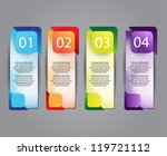 colorful number option banners | Shutterstock .eps vector #119721112