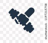 dumbbell vector icon isolated... | Shutterstock .eps vector #1197215758
