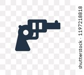 revolver vector icon isolated... | Shutterstock .eps vector #1197218818