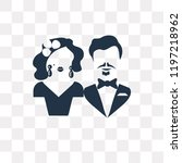 marry vector icon isolated on... | Shutterstock .eps vector #1197218962