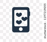 dating app vector icon isolated ... | Shutterstock .eps vector #1197219055