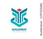 development   vector business... | Shutterstock .eps vector #1197223282
