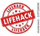 lifehack vector stamp isolated...   Shutterstock .eps vector #1197228358