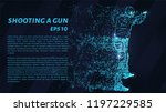 shooting a gun from the... | Shutterstock .eps vector #1197229585