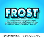 modern winter blue bold 3d text ... | Shutterstock .eps vector #1197232792