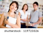 group of college students at... | Shutterstock . vector #119723326
