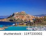 beautiful view of castelsardo... | Shutterstock . vector #1197233302