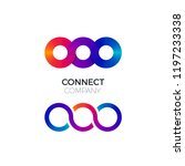 two vector connect symbols.... | Shutterstock .eps vector #1197233338