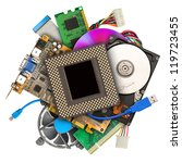 heap of computer hardware... | Shutterstock . vector #119723455