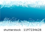 cold winter background with... | Shutterstock .eps vector #1197234628