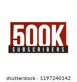 subscribers number vector icon. ... | Shutterstock .eps vector #1197240142